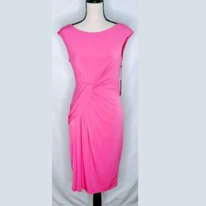 NWT Vince Camuto Cap Sleeve Ruched Fitted Dress 10